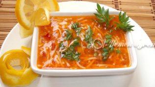 Tel Şehriyeli Sebze Çorbası Tarifi
