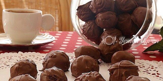 Çikolatalı Kakaolu Misket Kurabiye