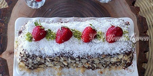 Muzlu Kakaolu Büsküvili Pasta