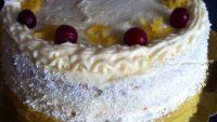 Vişne dolgulu Limonlu Pasta