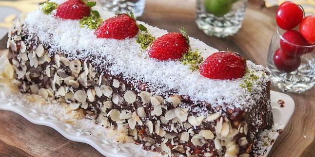 Muzlu Kakaolu Bisküvili Pasta