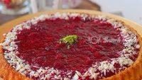 Kremalı Böğürtlenli Pasta