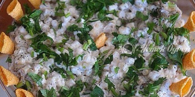Makarnalı Köz Patlıcan Salatası