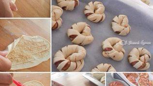 Çikolatalı Tahinli Bükme Çörekler
