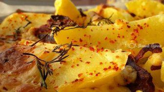 Fırında atıştırmalık patatesler