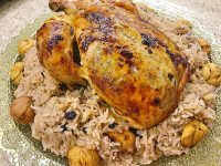 Fırında Tavuk Ve İç Pilav Tarifi