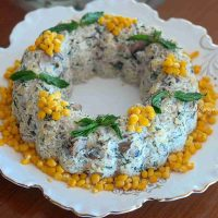 Mantarlı Arpa Şehriye Salatası
