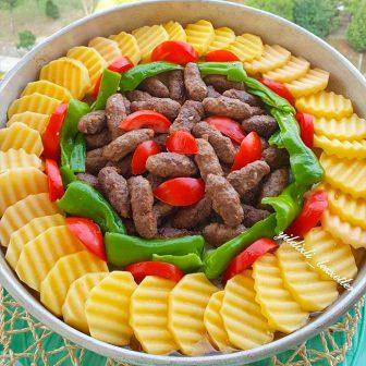Fırında Şık Sunumlu Patates Köfte Tarifi