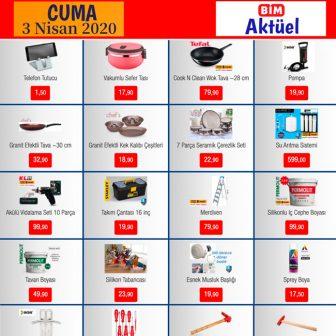 Bim Aktüel Ürünler 3 Nisan 2020 Cuma Aktüel Kataloğu