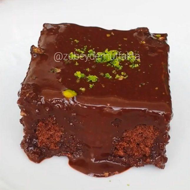Bol Soslu Çikolatali İSLAK KEK