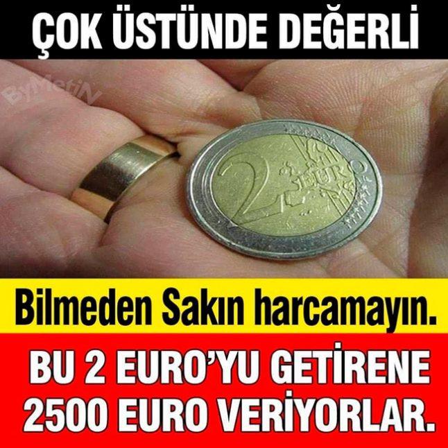 2 Euro Deyip Geçmeyin Değerinin Kattırılacak Fiyat Biçimlendirilir Varsa Saklayın