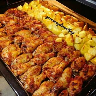 Fırında Tavuk Kanat Patates