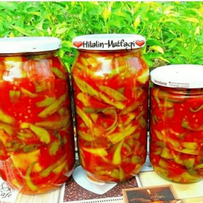 Kışlık Biber Kızartması Konservesi(Domates soslu)