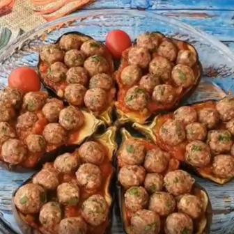 Köfteli Çanak Patlıcan