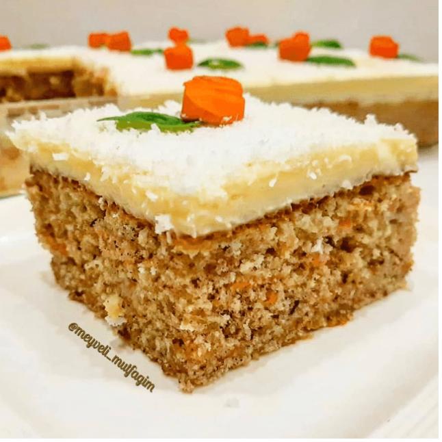 Kremalı Havuçlu Pasta