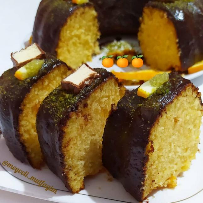 Muhteşem Portakallı Çikolatalı Kek