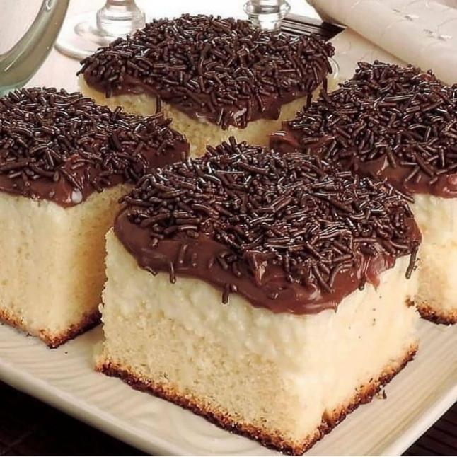 Süt Kremalı Pasta