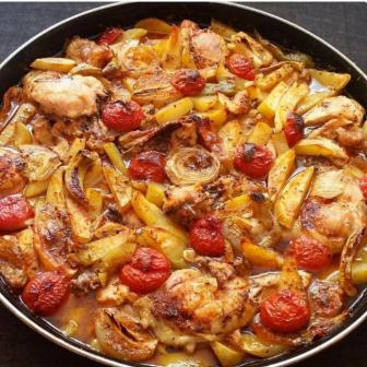 Sebzeli Fırın Tavuk