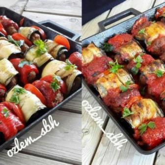 Fırında Patlıcanlı Köfte